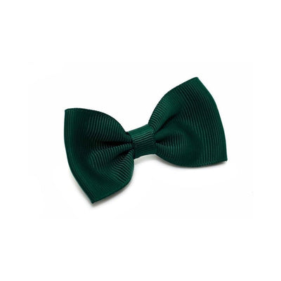 Fabric Hair Bow-Discontinued-Green-Tegen Accessories