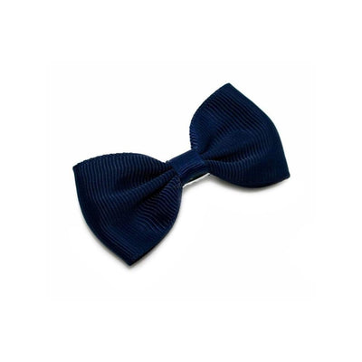 Fabric Hair Bow-Discontinued-Navy-Tegen Accessories