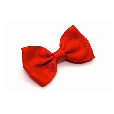 Fabric Hair Bow-Discontinued-Red-Tegen Accessories