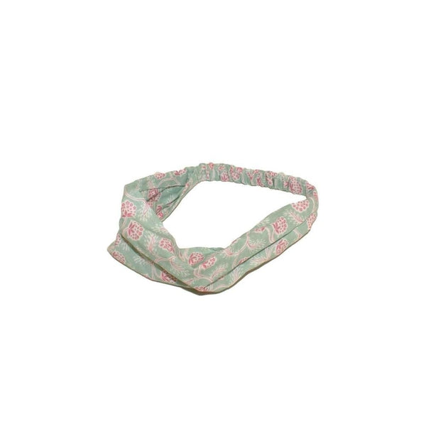 Fairtrade Cotton Bandeau-Bandeaus-Caro London-Red Tropical-Tegen Accessories
