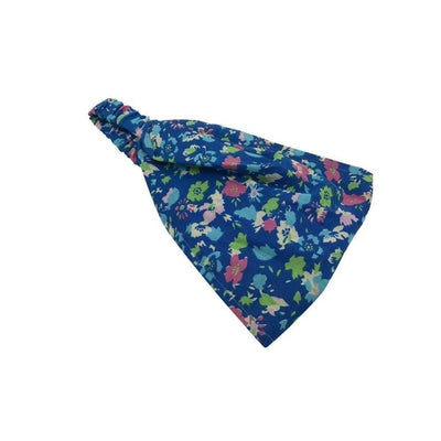 Fairtrade Cotton Bandeau-Bandeaus-Caro London-Floral Isabel Blue-Tegen Accessories