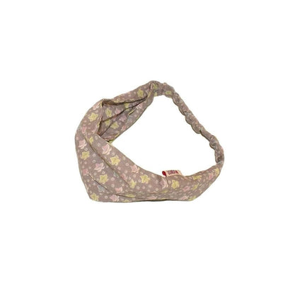Fairtrade Cotton Bandeau-Bandeaus-Caro London-Grey/Lilac Floral Leaf Swirl-Tegen Accessories