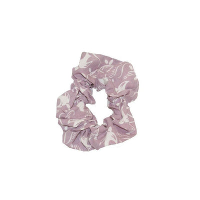 Fairtrade Cotton Scrunchie-Discontinued-Lilac Swallows-Tegen Accessories
