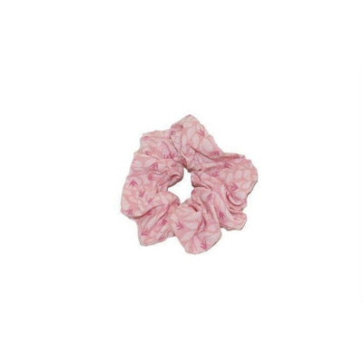 Fairtrade Cotton Scrunchie-Discontinued-Pink Leaves & Swallows-Tegen Accessories