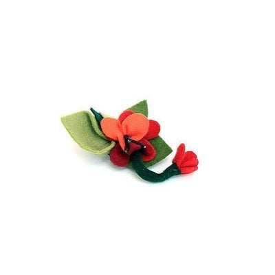 Felt Floral Brooch-Discontinued-Red-Tegen Accessories