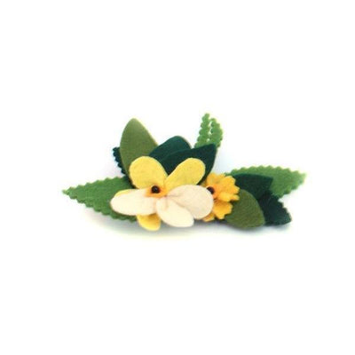 Felt Floral Brooch-Discontinued-Yellow-Tegen Accessories