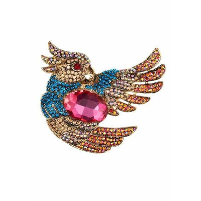Flamboyant Cerise Parrot Hairclip and Brooch-Clips & slides-Rosie Fox-Tegen Accessories