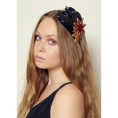 Flame Star Feather Headband-Headbands-Rosie Fox-Tegen Accessories