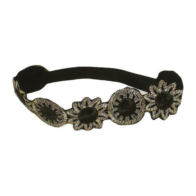 Flapper Headband-Bandeaus-Rosie Fox-Natasha-Black-Tegen Accessories