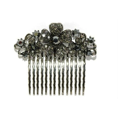 Floral Bridal Comb-Hair combs-Swarovski Crystal-Tegen Accessories