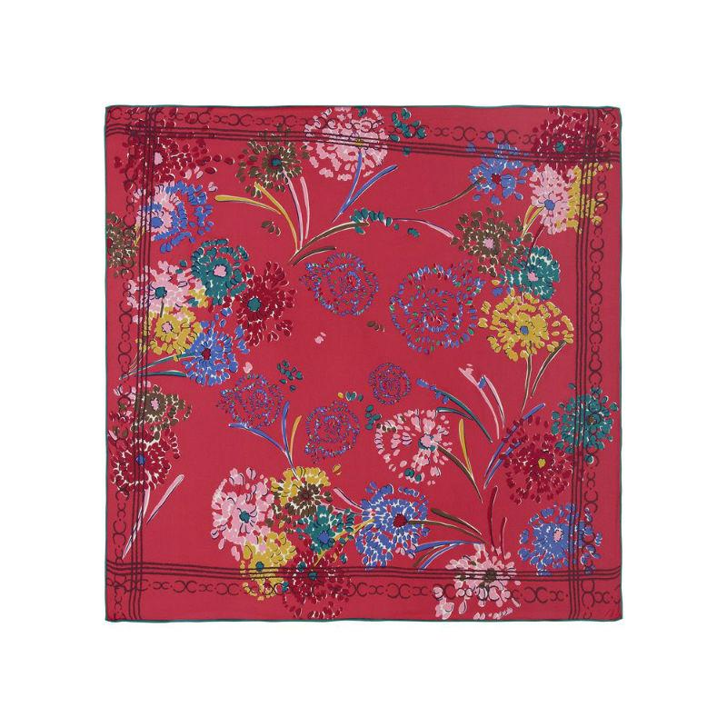 Floral Silk Scarf-Scarves-Rosie Fox-Fuchsia-Tegen Accessories Red