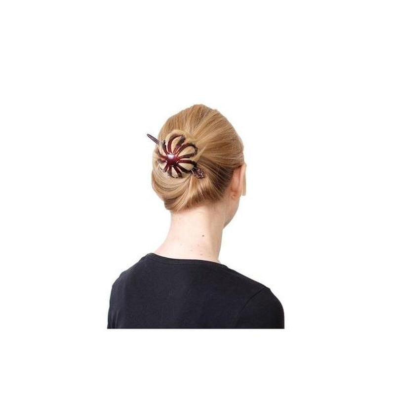 Flower Bun Stick Barrette-Barrettes-Essentials-Tortoiseshell-Tegen Accessories