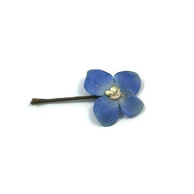 Flower Hair Grip-Hair flowers-Gil Fox-Blue-Tegen Accessories