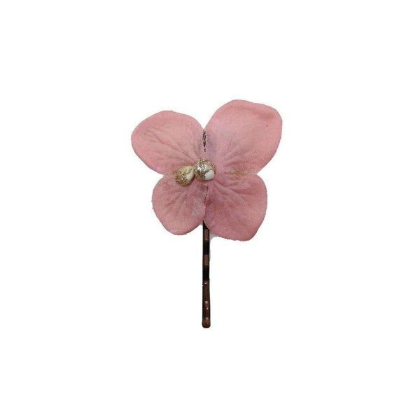 Flower Hair Grip-Hair flowers-Gil Fox-Grey-Tegen Accessories