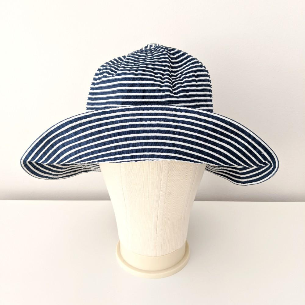 Foldable Two-Tone Sun Hat Red