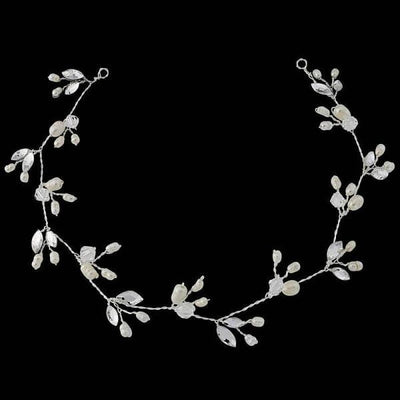 Freshwater Pearl and Crystal Hairvine-Hair vines-Bridal-Tegen Accessories