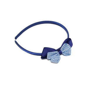 Gingham Bow Headband-Headbands-Children-Tegen Accessories