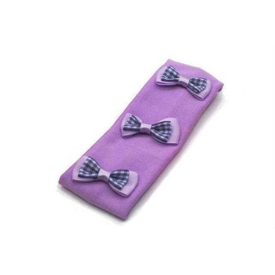 Gingham Bows Bandeau-Discontinued-Purple-Tegen Accessories