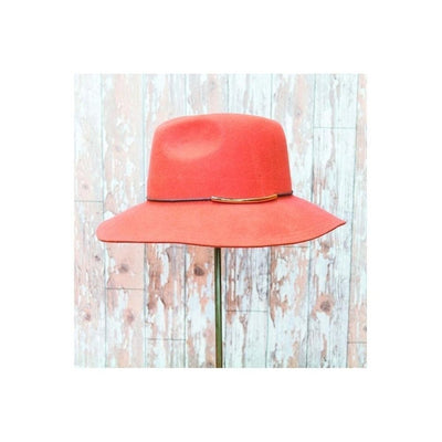 Giselle Fedora Hat-Discontinued-Orange-Tegen Accessories