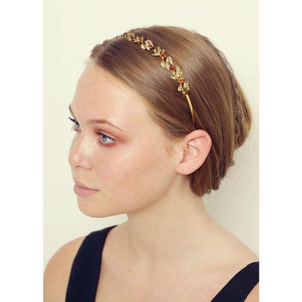Gold and Bronze Crystal Headband-Headbands-Rosie Fox-Bronze Crystal-Tegen Accessories