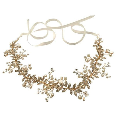 Gold and Crystal Scarlet Hairvine-Hair vines-Bridal-Tegen Accessories