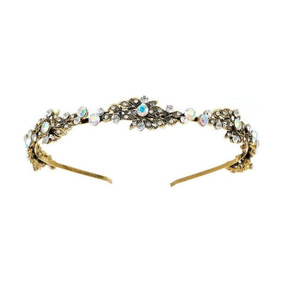 Gold and Crystal Vintage Headband-Headbands-Rosie Fox-Gold-Tegen Accessories