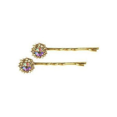 Gold Crystal Hair Slides-Discontinued-Gold-Tegen Accessories