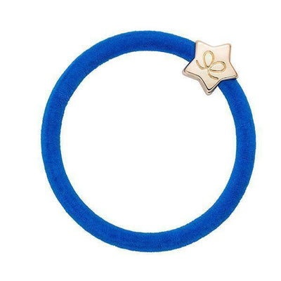 Gold Star Charm Velvet Hairband-Elastics-by Eloise-Royal Blue-Tegen Accessories