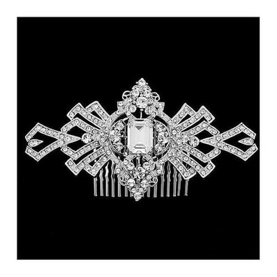 Great Gatsby Crystal Hair Comb-Hair combs-Bridal-Tegen Accessories