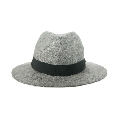 Grey Clasico Fedora Hat-Discontinued-Grey-Tegen Accessories