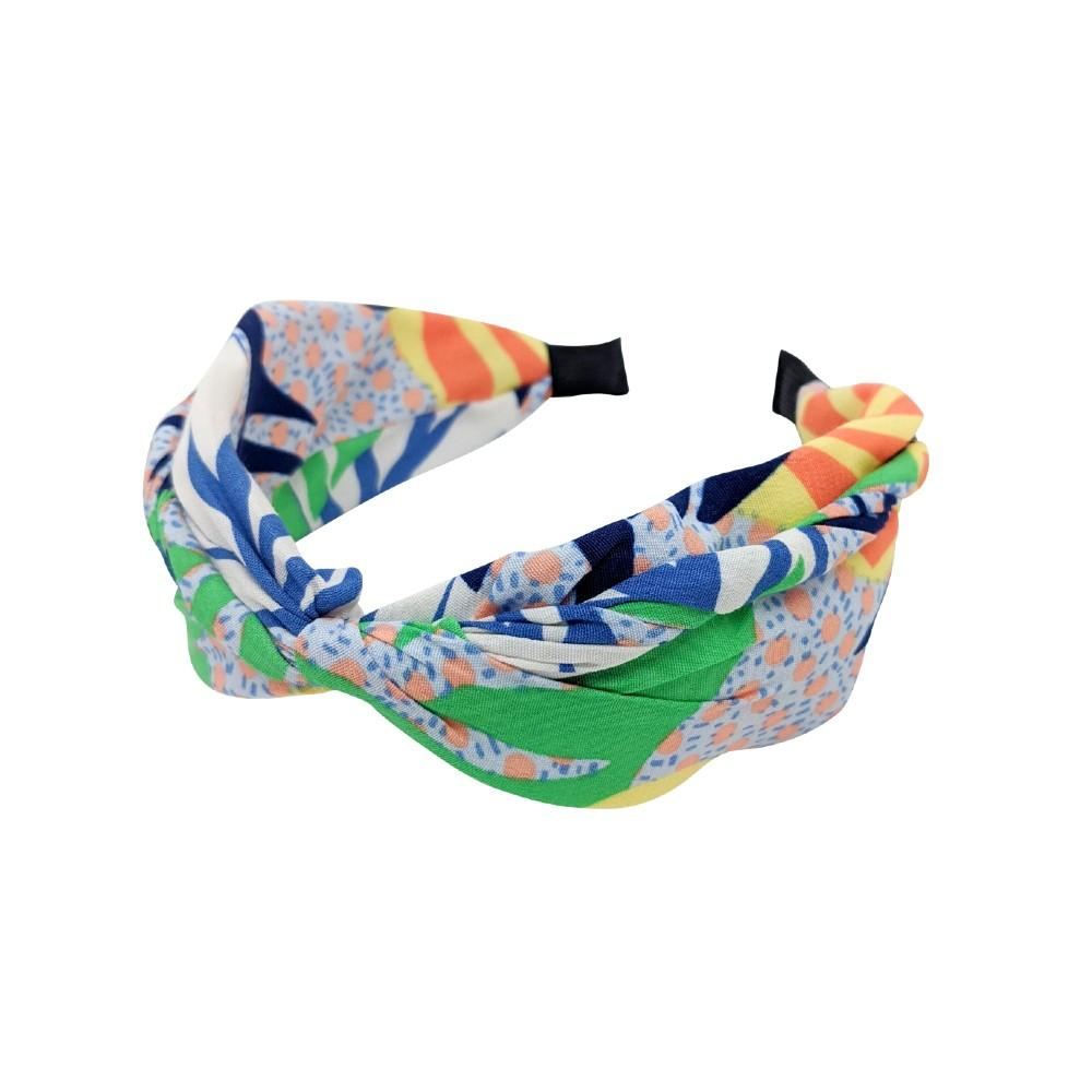 Handmade Abstract Tropical Print Headband-Headbands-Tegen Accessories-Multi