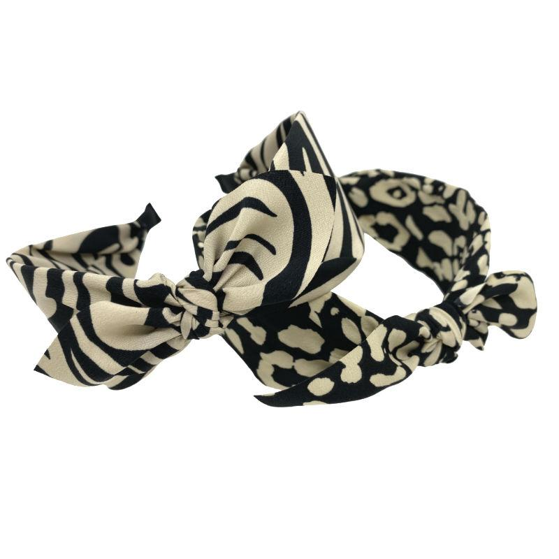 Handmade Animal Print Headband-Headbands-Tegen Accessories-Zebra-Tegen Accessories Cream Black