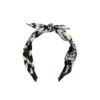 Handmade Black and White Pattern Headband-Headbands-Tegen Accessories-Tegen Accessories