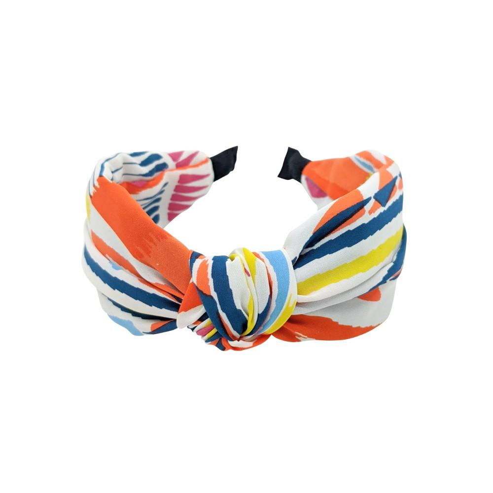 Handmade Bright Fabric Knot Headband-Headbands-Tegen Accessories-Orange