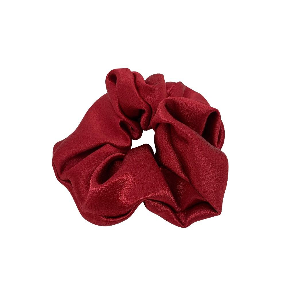 Handmade Duchess Satin Scrunchie-Scrunchies-Tegen Accessories-Red
