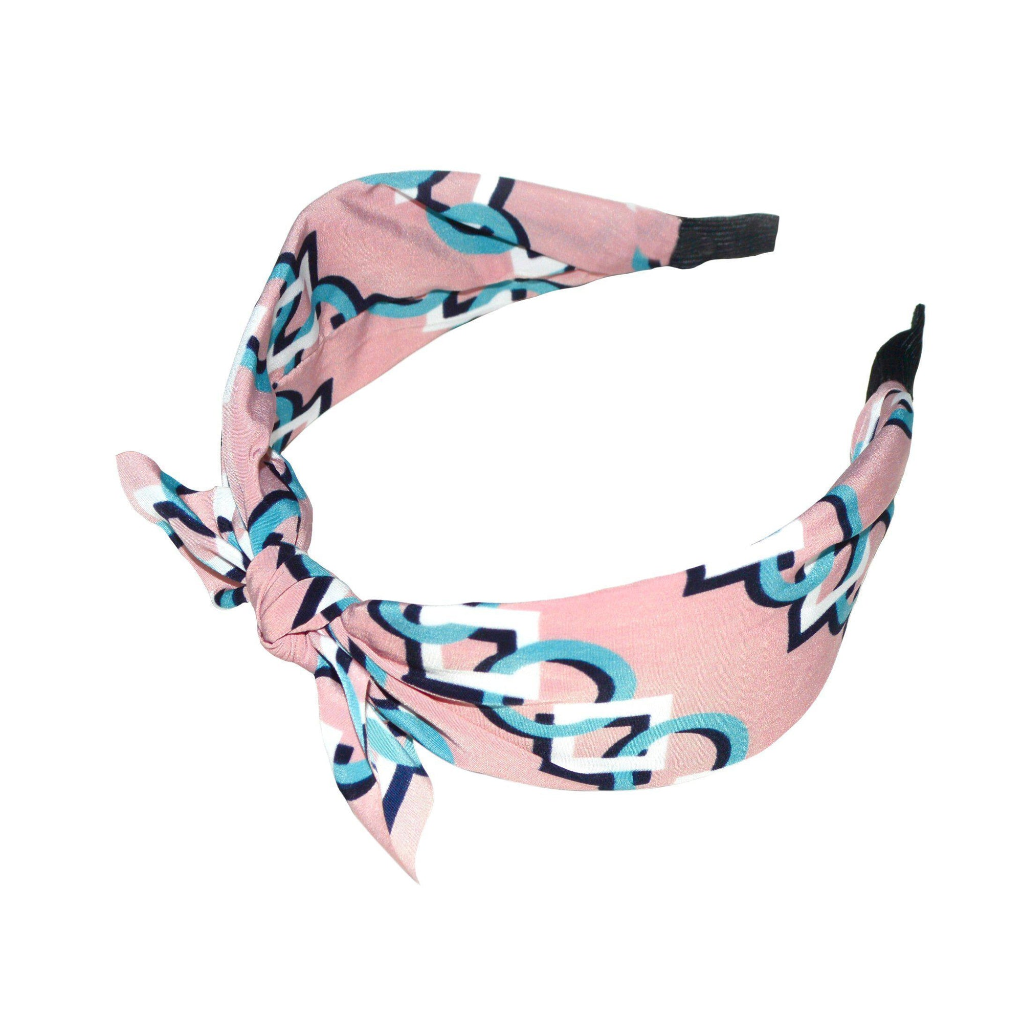 Handmade Geometric Chain Headband-Headbands-Tegen Accessories-Pink-Tegen Accessories