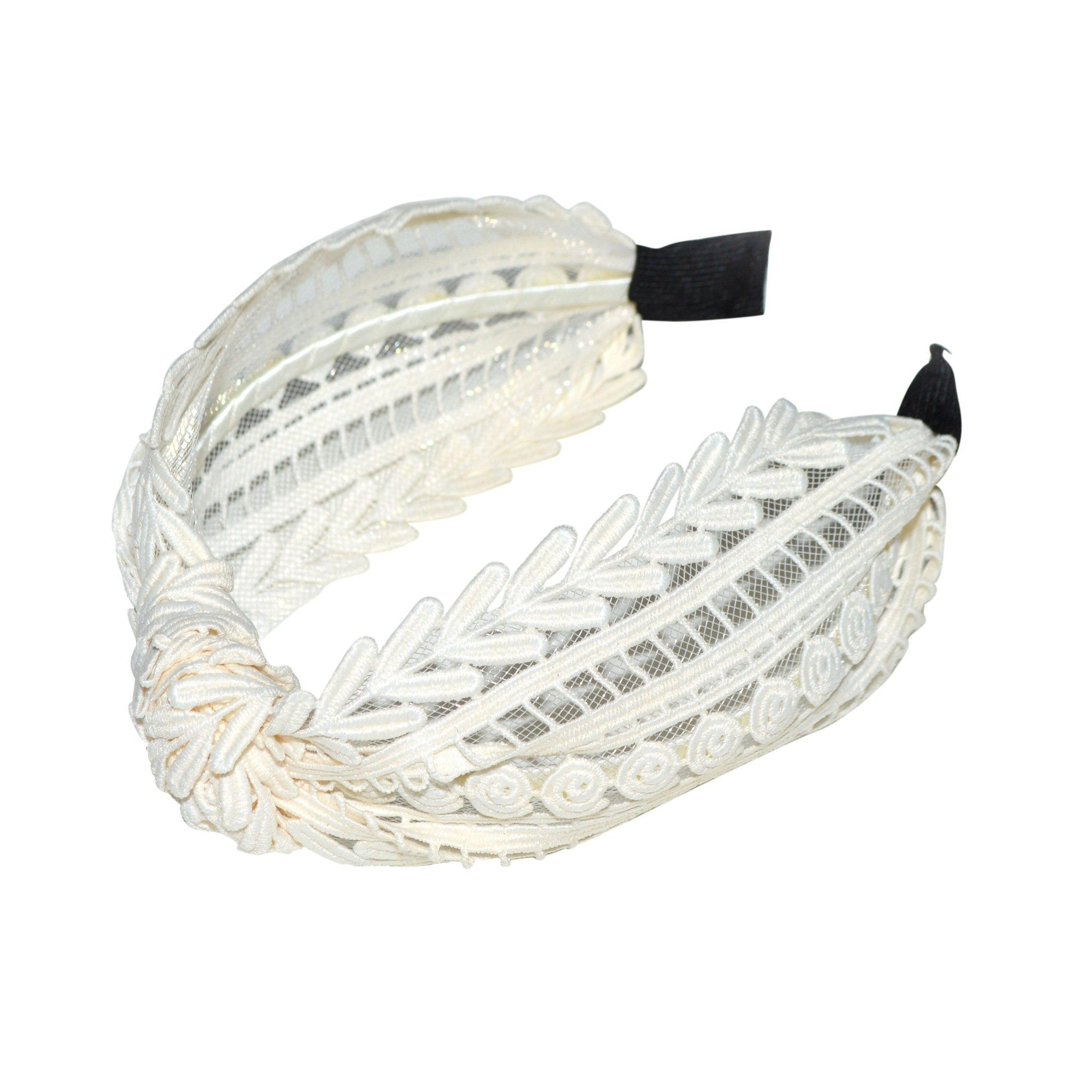Handmade Lace Headband-Headbands-Tegen Accessories-White-Tegen Accessories