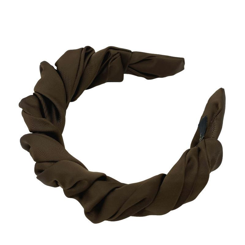 Handmade Ruched Satin Headband-Headbands-Tegen Accessories-Tegen Accessories