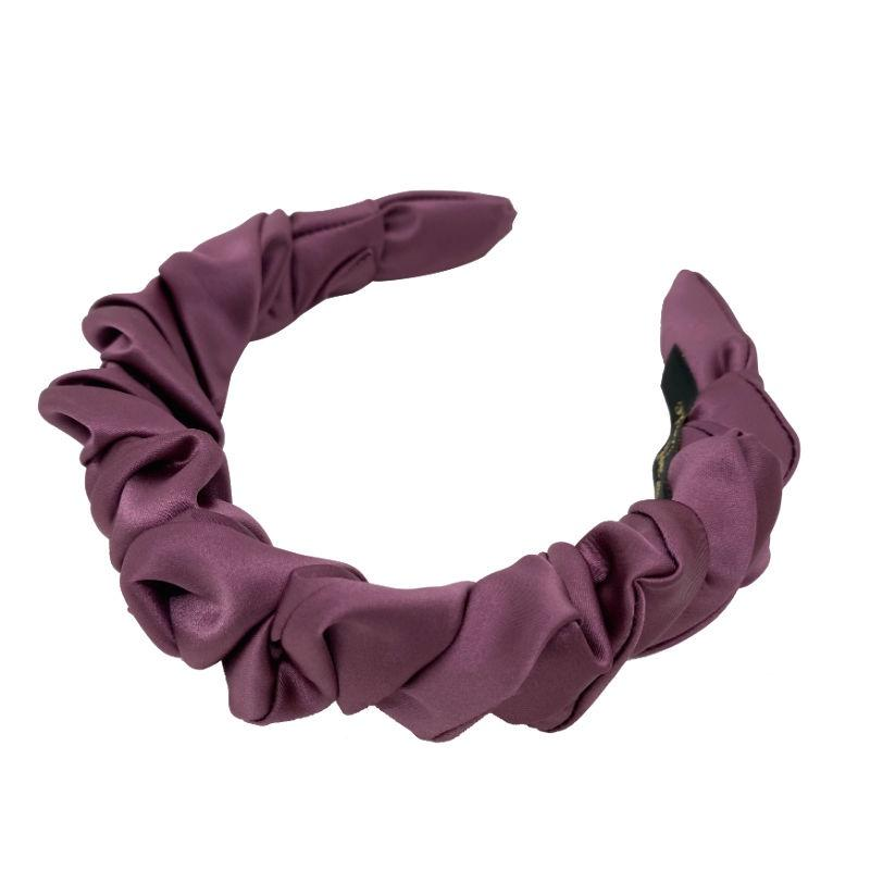 Handmade Ruched Satin Headband-Headbands-Tegen Accessories-Purple-Tegen Accessories