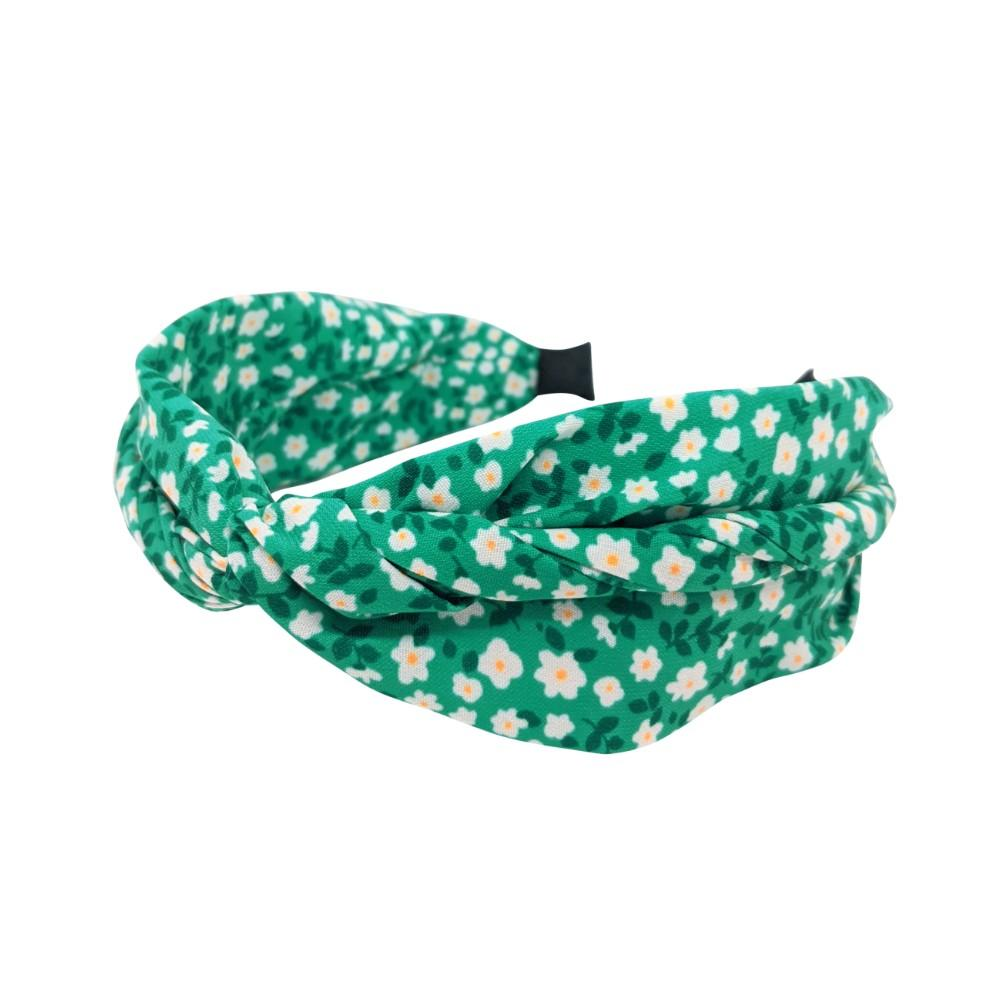 Handmade Spring Floral Headband-Headbands-Tegen Accessories-Green