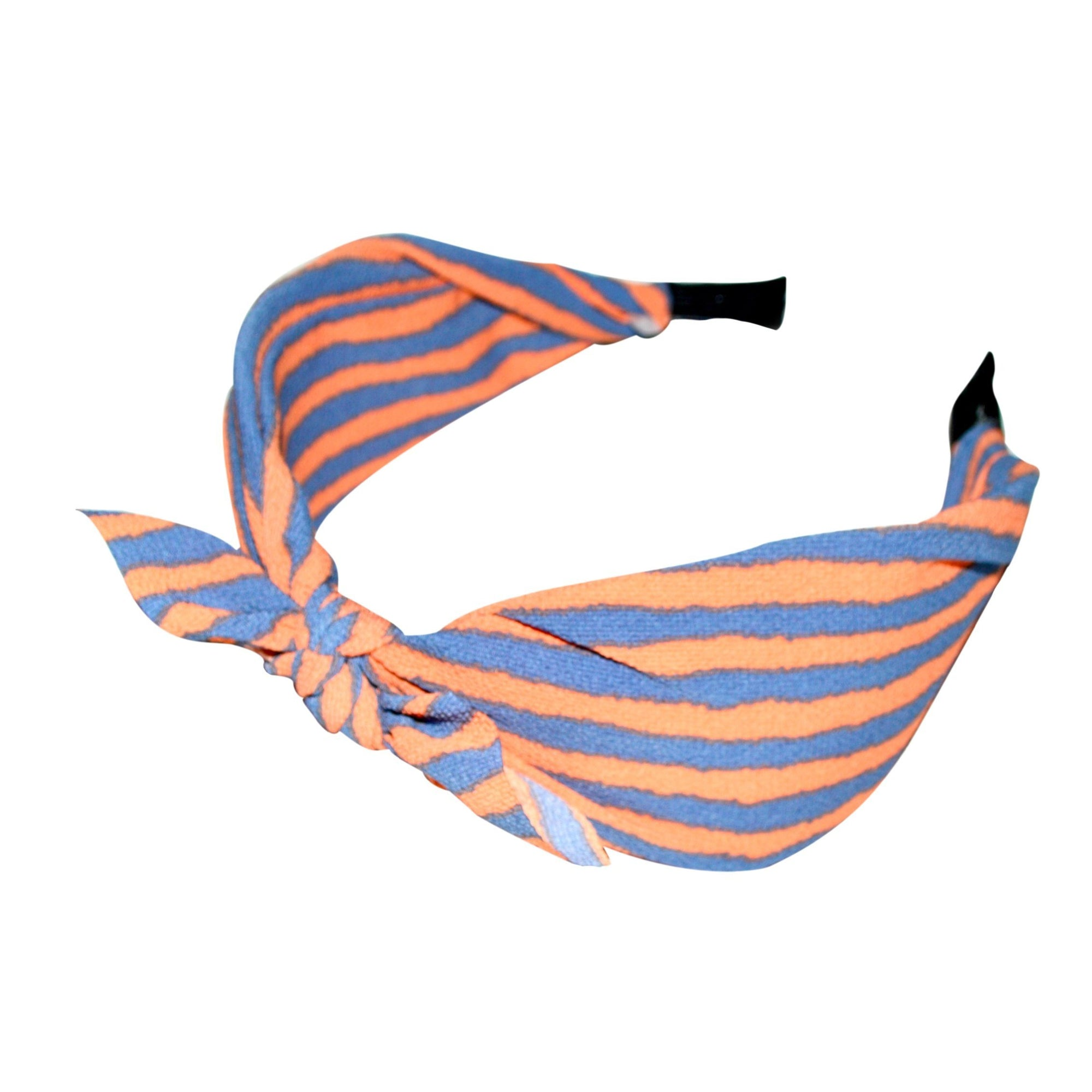 Handmade Striped Headband-Headbands-Tegen Accessories-Orange/Purple Stripe-Tegen Accessories