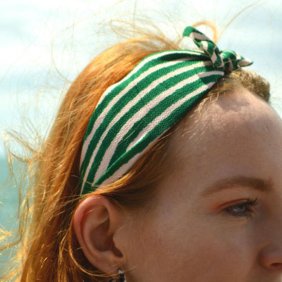 Handmade Striped Headband-Headbands-Tegen Accessories-Tegen Accessories
