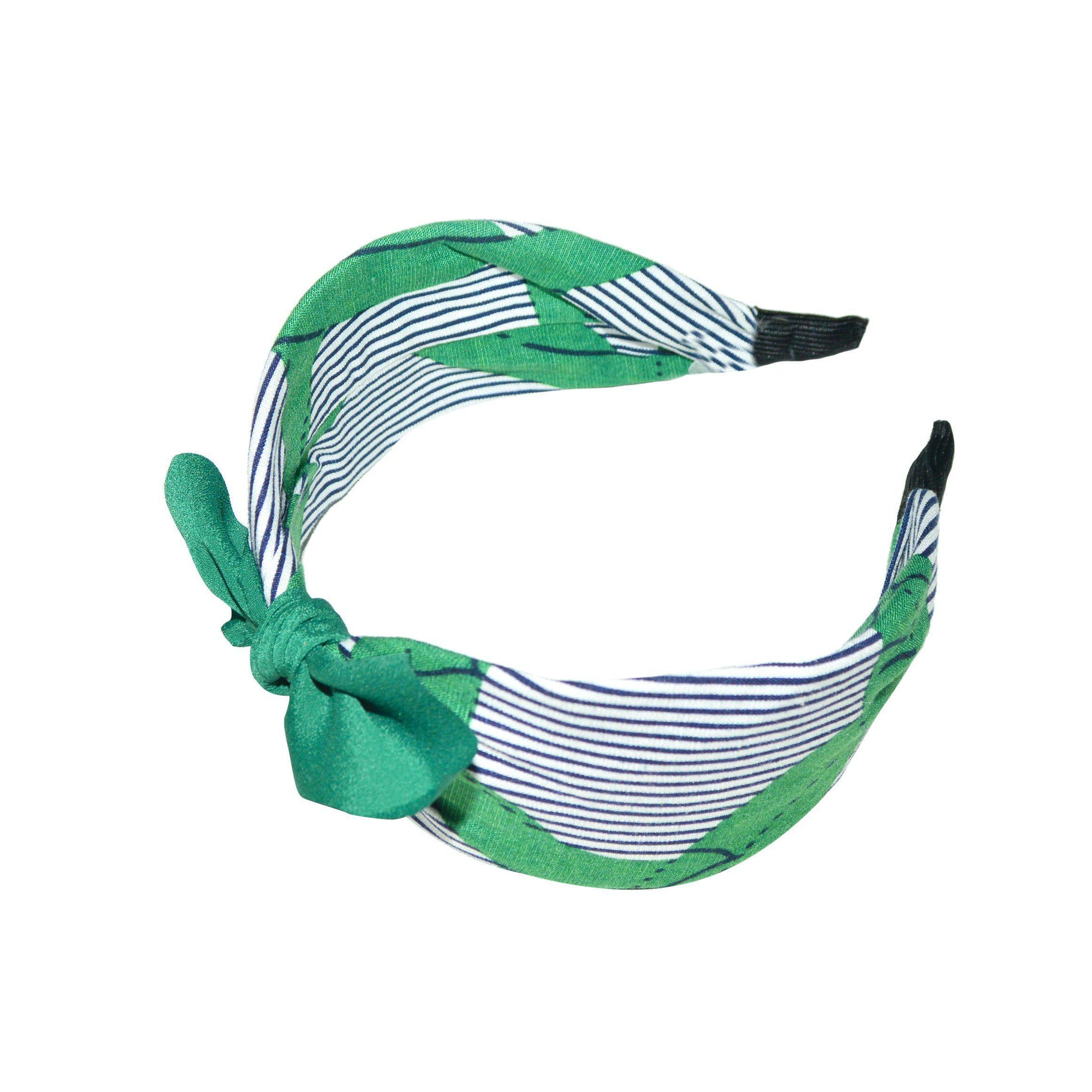 Handmade Wave Stripe Headband-Headbands-Tegen Accessories-Green-Tegen Accessories