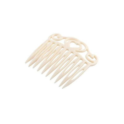 Heart Side Comb-Hair combs-Ooh La La!-Ivory-Tegen Accessories