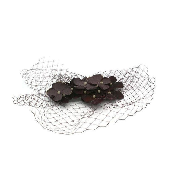 Hydrangea Headpiece-Fascinators-Gil Fox-Burgundy-Tegen Accessories