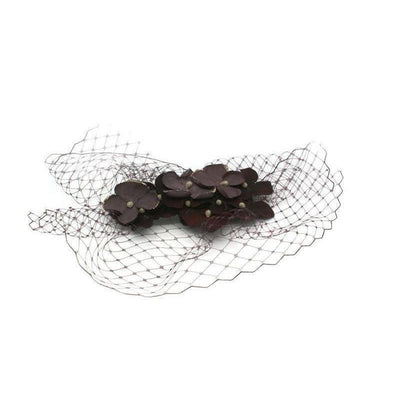 Hydrangea Headpiece-Discontinued-Burgundy-Tegen Accessories