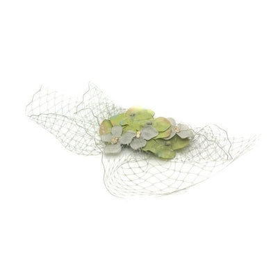Hydrangea Headpiece-Discontinued-Green/Grey-Tegen Accessories