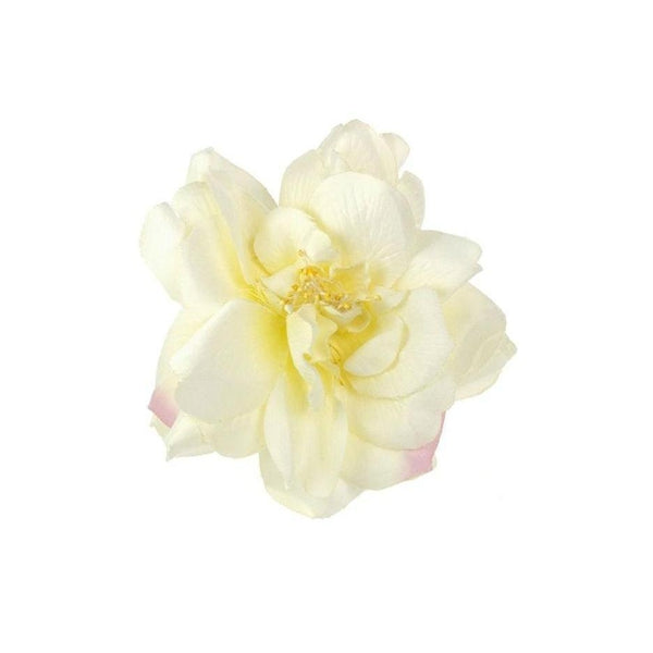 Ivory Flower Hair Clip-Discontinued-Ivory-Tegen Accessories
