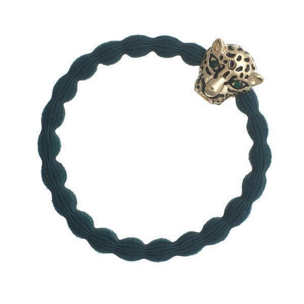 Jaguar Charm Hairband-Elastics-by Eloise-Bottle Green-Tegen Accessories