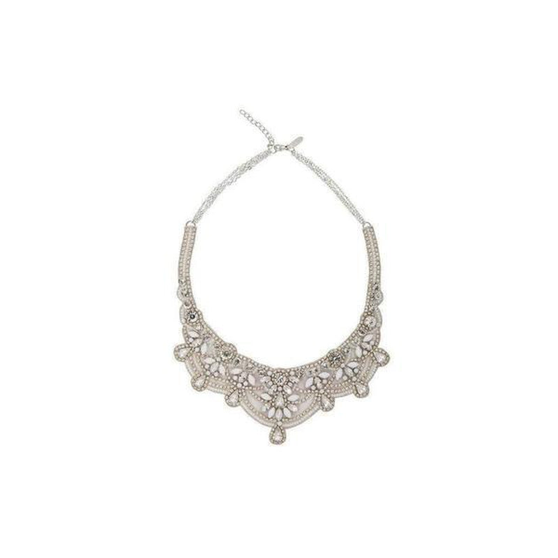 'Katelyn' Bridal Necklace-Necklaces-Eliza Vale-Ivory-Necklace drop: 14cm-Tegen Accessories